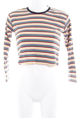 Topshop Petite Top à manches longues motif rayé style décontracté