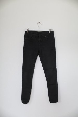 Topshop Petite Moto Leigh Jeans Vintage Used Look schwarz grau Gr. M