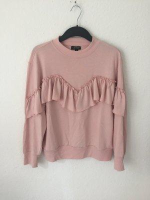 Topshop Petite Sweatshirt mit Volants Rosa