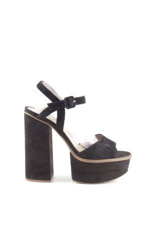 Topshop Plateau-Pumps schwarz-braun extravaganter Stil