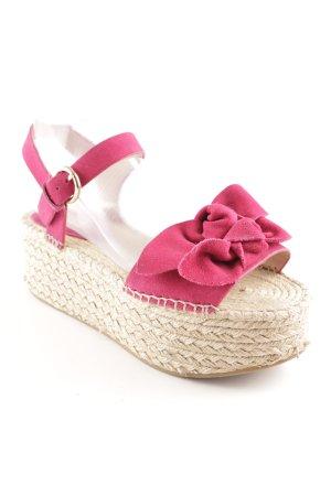 Topshop Plateauzool sandalen roze-room Beach-look