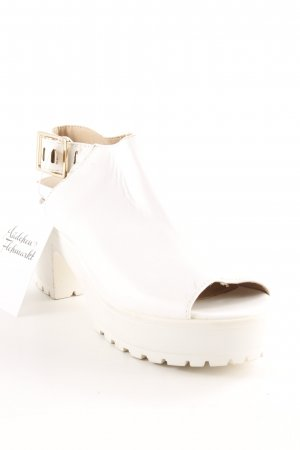 Topshop Sandalo alto con plateau bianco stile stravagante
