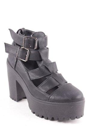 Topshop Plateau-Stiefeletten schwarz Street-Fashion-Look