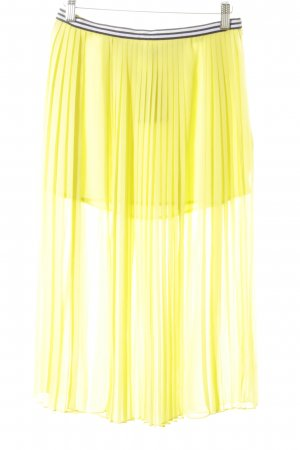 Topshop Pleated Skirt lime yellow street-fashion look