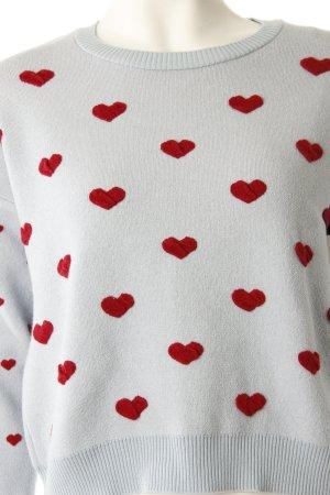 Topshop Pullover Herzen hellblau