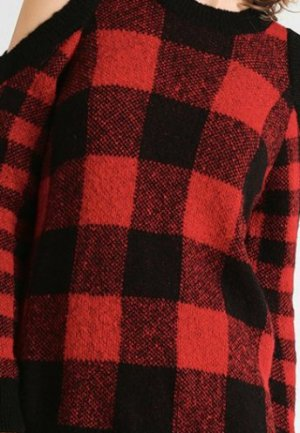 Topshop Pullover mit Cut Outs an den Schultern rot