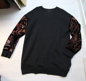 Topshop Sweater zwart-roodbruin