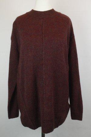 Topshop Jersey de punto rojo oscuro tejido mezclado