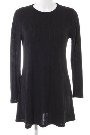 Topshop Pulloverkleid schwarz Webmuster Casual-Look