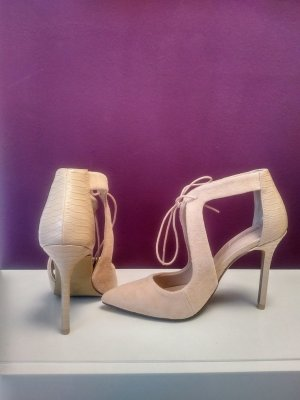 Topshop Lace-up Pumps beige suede