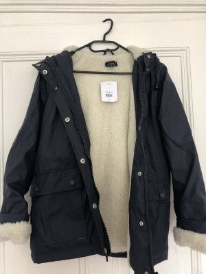Topshop Raincoat dark blue