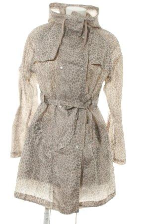 Topshop Manteau de pluie blanc cassé-brun motif léopard style décontracté