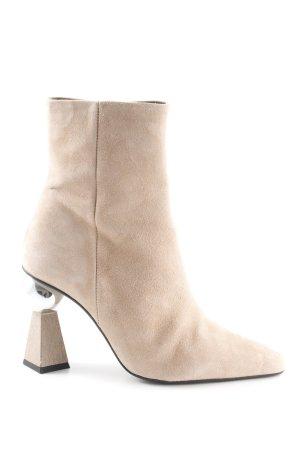 Topshop Reißverschluss-Stiefeletten beige extravaganter Stil