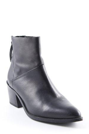 Topshop Reißverschluss-Stiefeletten schwarz schlichter Stil