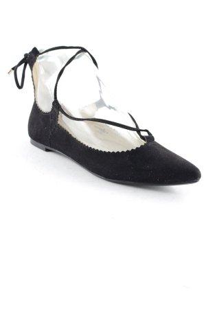 Topshop Ballerines à lacets noir style décontracté