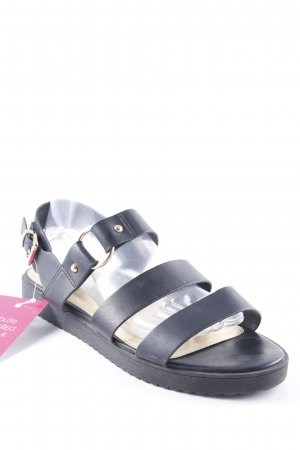 Topshop Strapped Sandals black beach look
