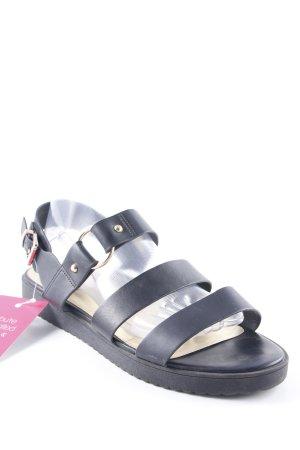 Topshop Sandalo con cinturino nero stile spiaggia
