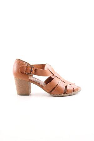 Topshop Strapped High-Heeled Sandals brown elegant