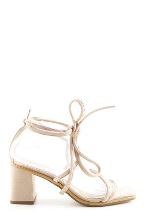 Topshop Sandalias de tacón de tiras blanco puro look casual