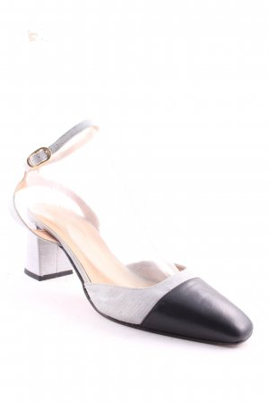 Topshop Strapped pumps light grey-black flecked minimalist style