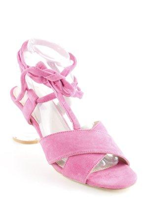 Topshop Riemchenpumps pink extravaganter Stil