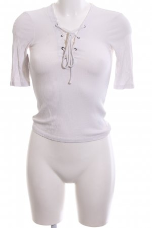 Topshop Ribbed Shirt white casual look