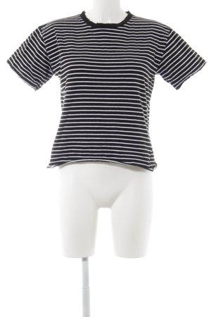 Topshop Rippshirt schwarz-weiß Streifenmuster
