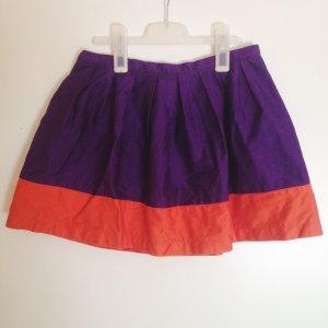 Topshop Falda violeta oscuro-naranja oscuro