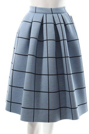 Topshop Ballonrock kornblumenblau-schwarz Karomuster Casual-Look