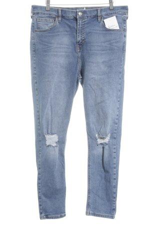 Topshop Jeans cigarette bleu clair style déchiré