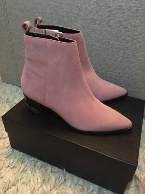 Topshop Western Booties pink leather