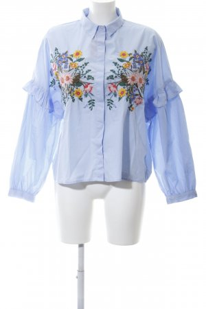 Topshop Ruffled Blouse blue business style