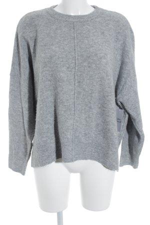 Topshop Rundhalspullover grau meliert schlichter Stil