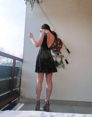 Topshop Samt Kleid Sommer Rückenfrei