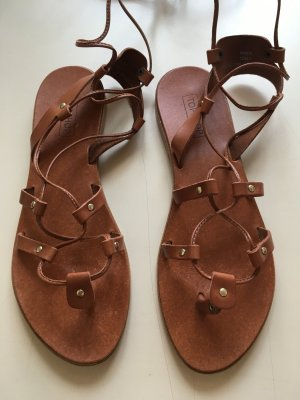 Topshop Roman Sandals cognac-coloured-brown leather