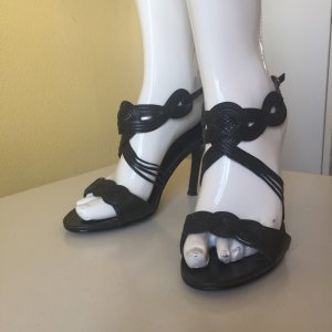 Topshop Sandaletto con tacco alto nero Pelle