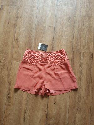 Topshop Satin Shorts Korall