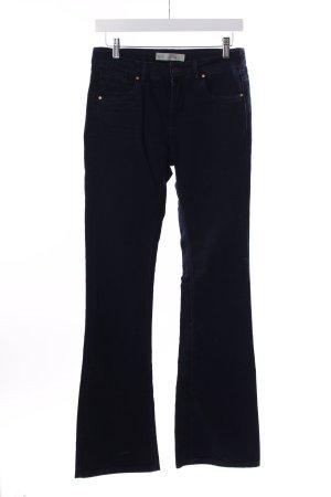 Topshop Pantalon pattes d'éléphant bleu foncé