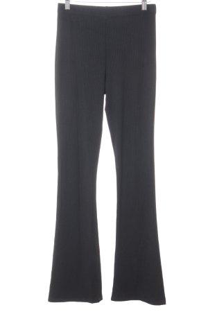 Topshop Pantalon pattes d'éléphant noir style simple
