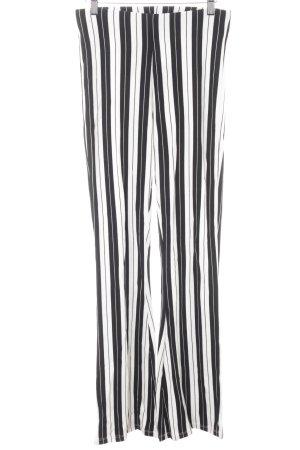 Topshop Pantalon pattes d'éléphant noir-blanc cassé motif rayé