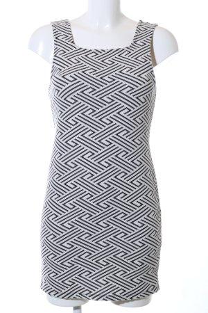 Topshop Vestido de tubo negro-blanco estampado repetido sobre toda la superficie