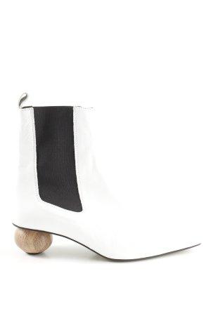 Topshop Stivaletto slip-on bianco-nero stile stravagante
