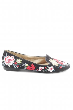 Topshop Slip-on Shoes black-red flower pattern casual look