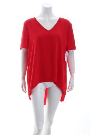 Topshop Schlupf-Bluse rot schlichter Stil