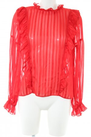 Topshop Schlupf-Bluse rot Streifenmuster Business-Look