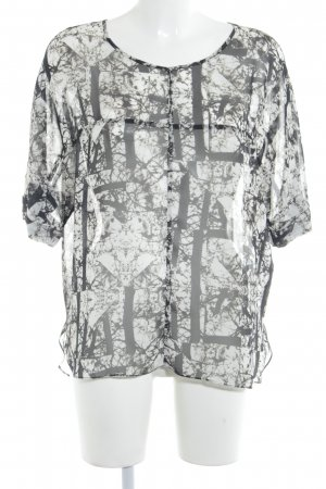 Topshop Schlupf-Bluse schwarz-weiß abstraktes Muster Street-Fashion-Look