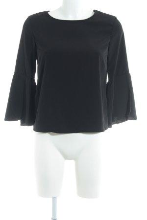 Topshop Schluppen-Bluse schwarz Elegant