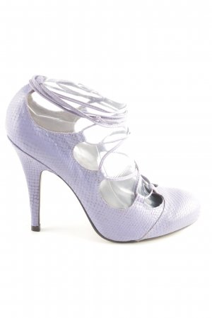 Topshop Lace-up Pumps lilac elegant