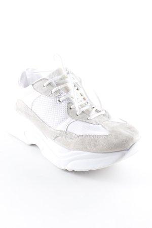 Topshop Schnürschuhe weiß-creme Street-Fashion-Look