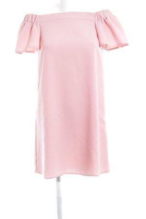 Topshop Off the shoulder jurk stoffig roze casual uitstraling